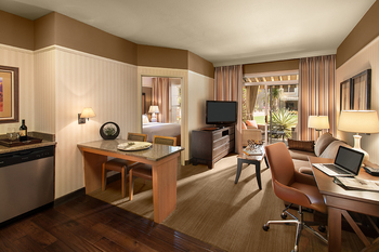 Guest room at Gainey Suites.