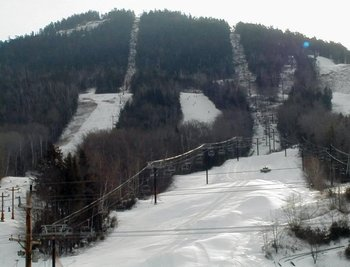 Skiing at Attitash Mountain Village Resort.