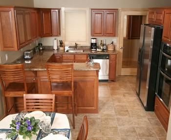 Villa kitchen at Cobblestone Cove Villas.