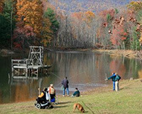 Fishing at the Montfair Resort Farm Lake