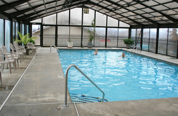 Indoor pool at Pointe Royale.