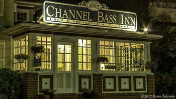 Exterior view of Channel Bass Inn.