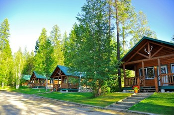 Cabins at Glacier Outdoor Center.