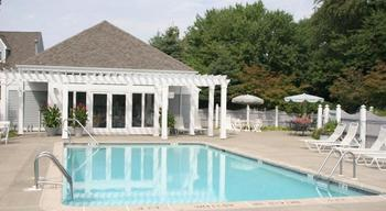 Outdoor pool at The Spa at Norwich Inn.