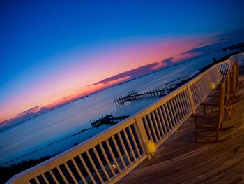 Balcony view at Pirates Cove Vacation Rentals.