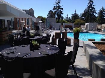 Poolside Reception at Hotel Paradox