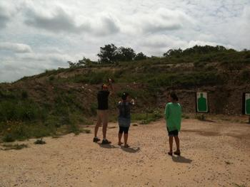 Target practice at West 1077 Guest Ranch.