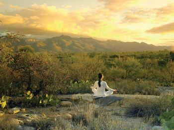 Meditation at Canyon Ranch Tucson.