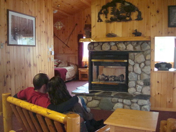 Cozy cabins at Gunflint Lodge.