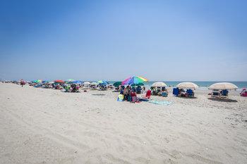 The beach at Holiday Inn Club Vacations South Beach Resort.