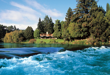 Exterior view of Huka Lodge.