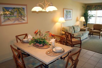 Unit dining table at Vistas on the Gulf.