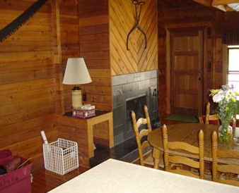 Cabin interior at Nelson's Resort.
