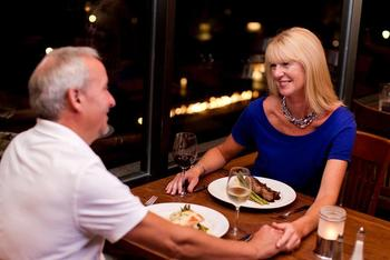 Romantic dinner at Geneva Ridge Resort.