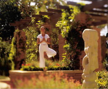 Yoga at La Posada de Santa Fe Resort & Spa.