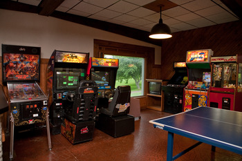 Video arcade at McGuire's Resort.