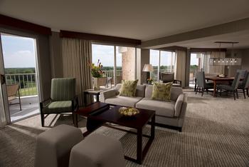 Guest room at Eaglewood Resort & Spa.