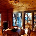 Cedar Cabin Living Room at Lodge of Whispering Pines
