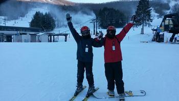 Skiing near Albergo Allegria.