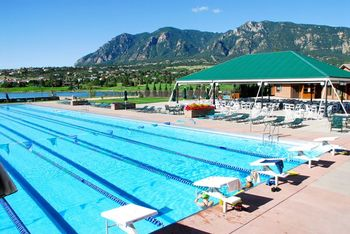 Pool area at Cheyenne Mountain Resort.