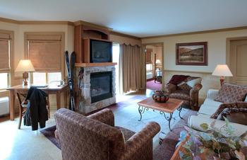 Guest living room at Crystal Springs Resort.