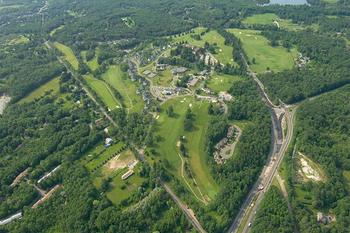 Aerial view of Cranwell Resort.
