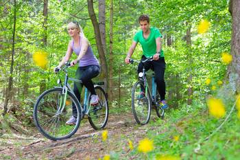 Biking trails near Bear Camp Cabins.