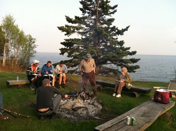Campfire at Thomsonite Beach Inn & Suites.