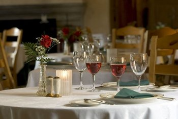 Romantic setup on table at The French Manor Inn.