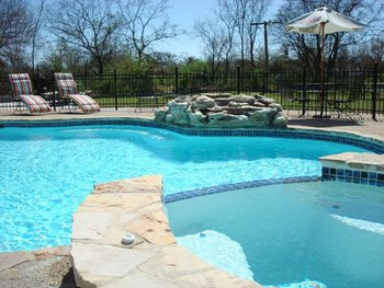 Outdoor pool at Gruene Homestead Inn.