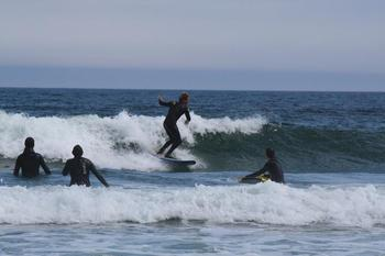 Surfing at White Point Beach Resort