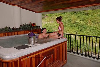 Private hot tub at Bonneville Resort.