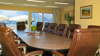 Meeting room at Campbell's Resort on Lake Chelan.