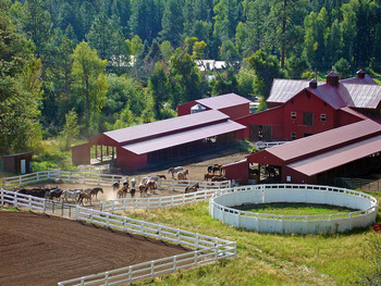 Exterior view of Colorado Trails Ranch.