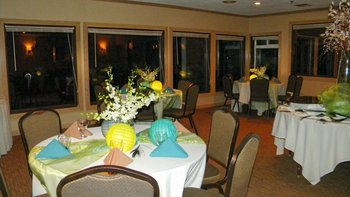 Banquet area at Driftwood Shores Resort.