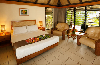 Guest room at Navini Island Resort.
