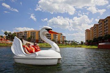 Paddle boat swan at Westgate Town Center.