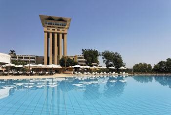 Outdoor pool at Aswan Oberoi Hotel & Spa.