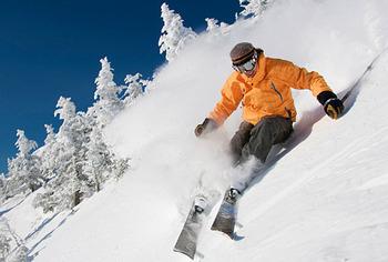 Skiing at Stowe Mountain Lodge.