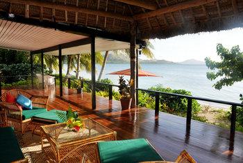 View from Nukubati Island.