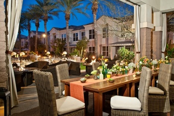 Dining at Gainey Suites.