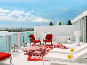 Balcony view at Mondrian Miami.