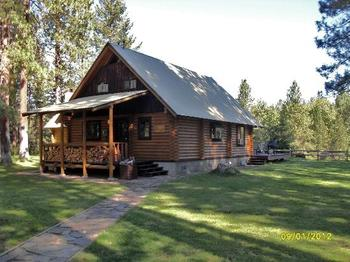 Cabin exterior at Natapoc Lodging.