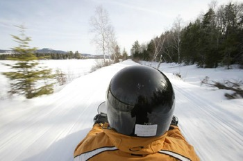 Snowmobiling at Northern Outdoors