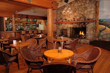 The Fireside Lounge at Cambria Pines Lodge features nightly entertainment.