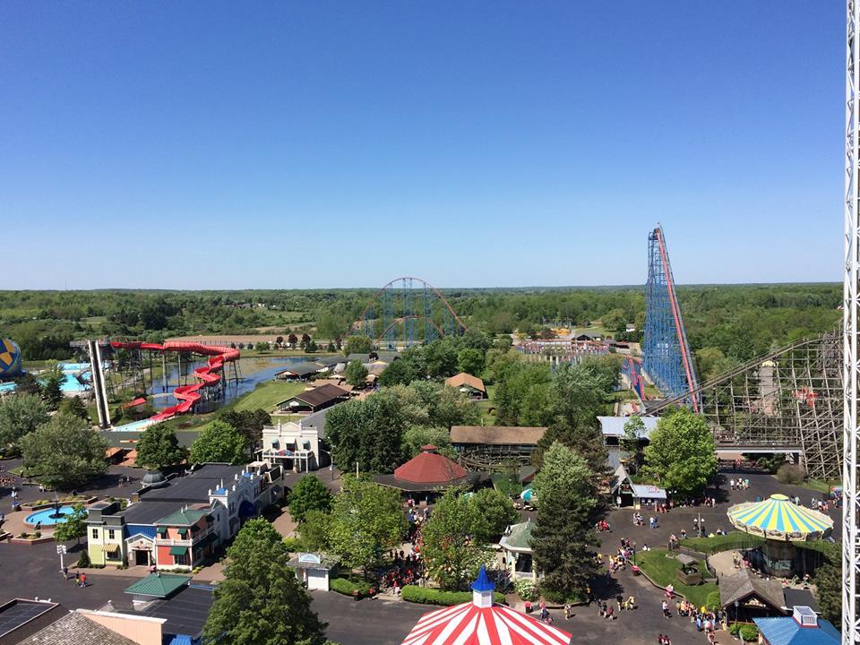 Amusement park view at Darien Lake Resort.