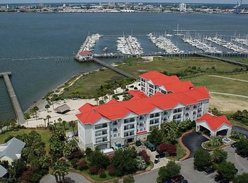 Aerial View of Charleston Harbor Resort