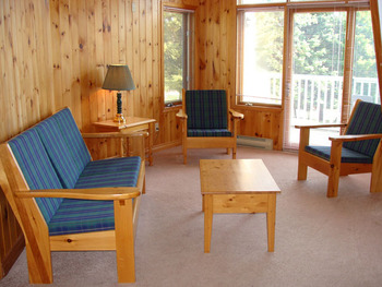 Cabin Interior at  Port Cunnington Lodge