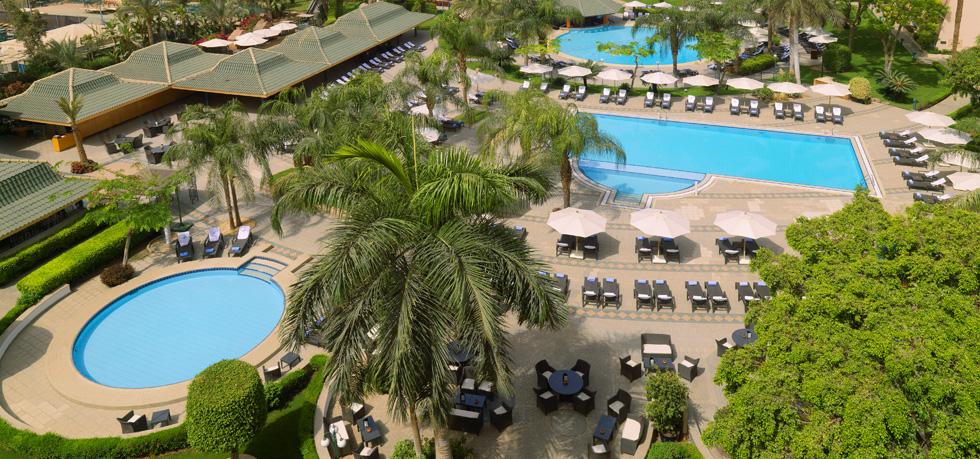 Outdoor pool at Fairmont Heliopolis.