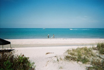 The beach at Englewood Beach & Yacht Club.